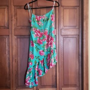 Printed Floral Spagetti Strap Dress